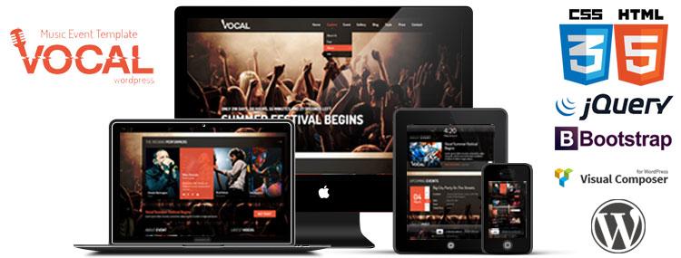 Voice – szablon WordPress & Joomla dla zainteresowanych muzyką