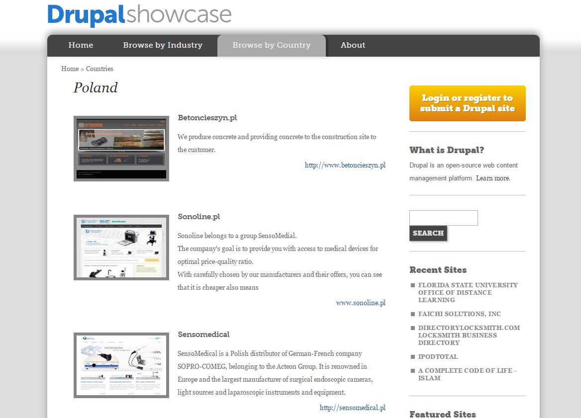 Warte uwagi polskie strony oparte o system Drupal